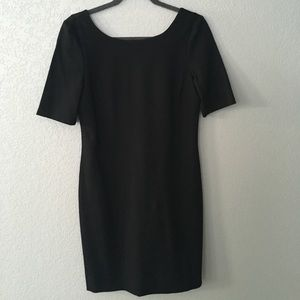 Banana Republic short sleeved black dress